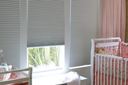 Three sliding Thermacell blinds in child's bedroom