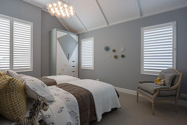3 large shutters in kids bedroom