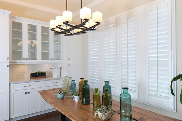 Interior kitchen shutters in country styled kitchen