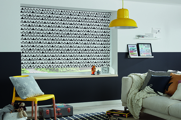 Triangle blind design in lounge