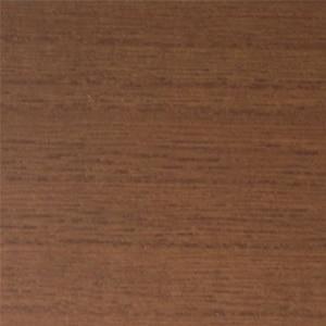 Rich walnut stain