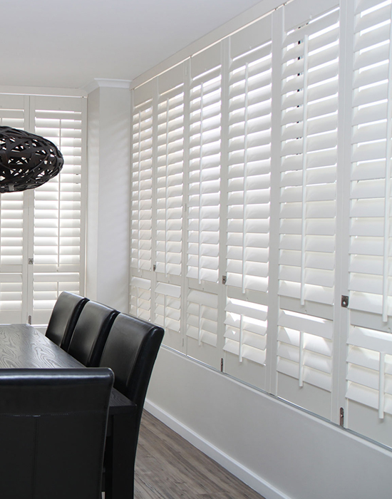Woodlore shutters in dining room