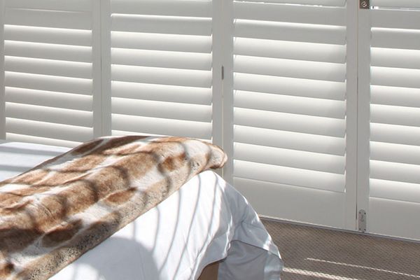 Woodlore plus shutters in bedroom